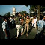 Indians dancing in the street